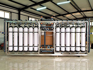Ultrafiltration (mineral water) equipment