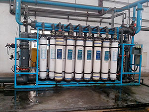 User field of ultrafiltration (mineral water) equipment